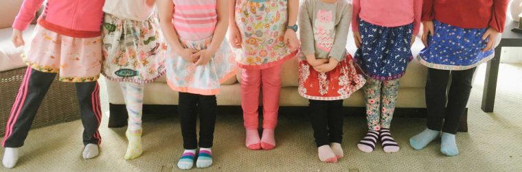 7 girls sewed Oliver + S Lazy Days Skirts