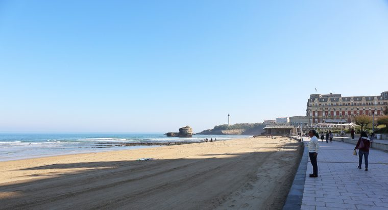 the beach at Biarritz
