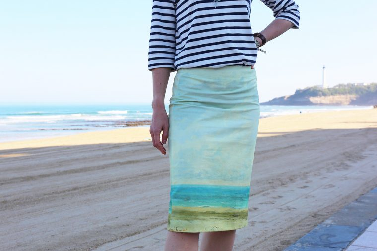 Biarritz pencil skirt