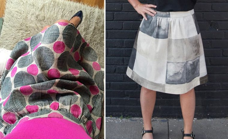 Liesl + Co Everyday Skirt in printed fabrics