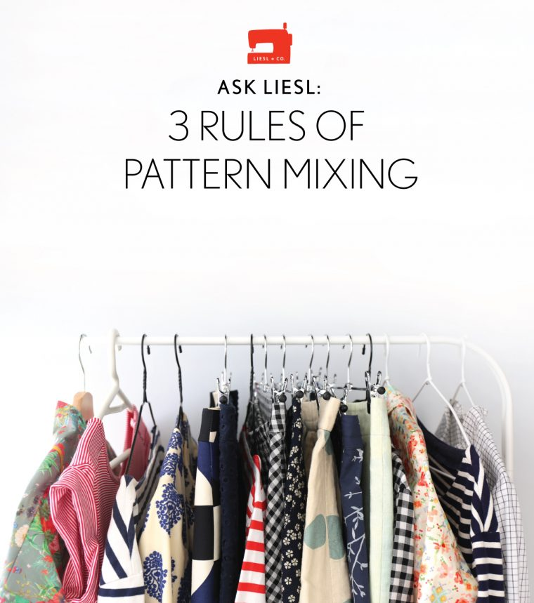 three rules of pattern mixing