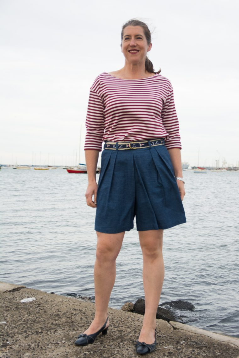 Liesl + Co. SoHo Shorts with added belt loops