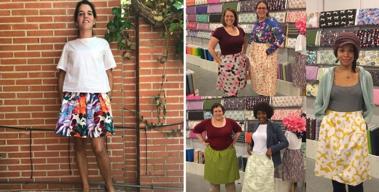 Rita's SoHo Shorts and Everyday Skirts in a sewing class
