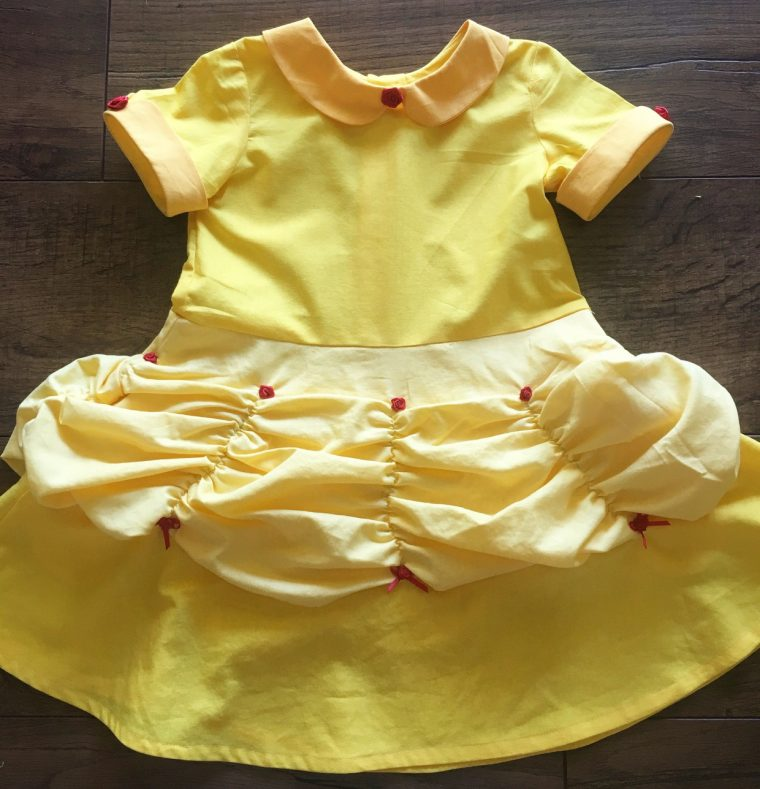 Oliver + S Building Block Dress made into a Belle ball gown