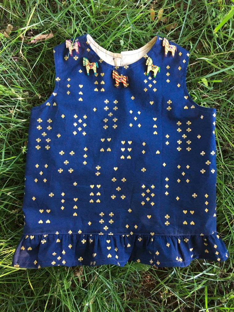 Oliver + S Building Block Dress made into a peplum top