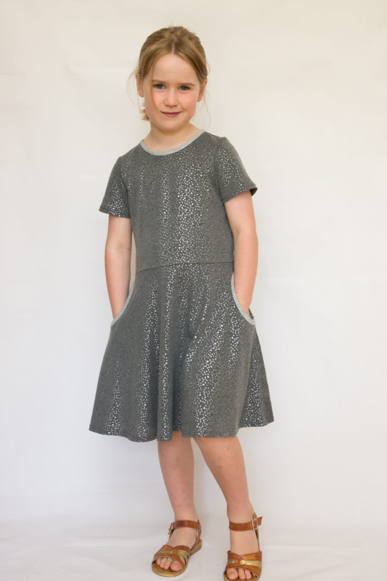 Oliver + S Building Block Dress in knit fabric