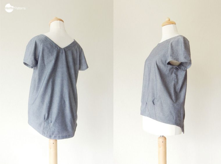 Malaga Pleated Hem Top sewing pattern