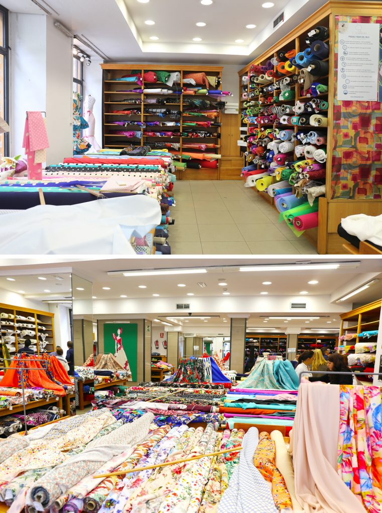 Fabric shopping in Madrid: Ribes y Casals fabric store