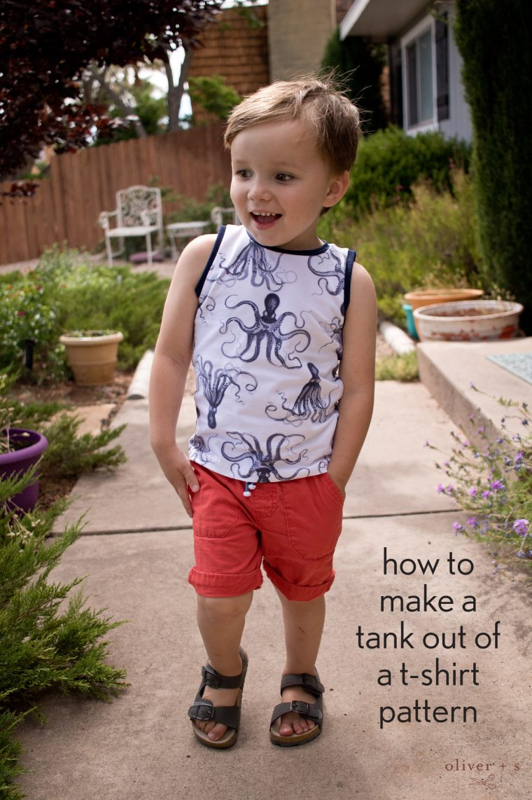 How to make a tank top out of a t-shirt pattern