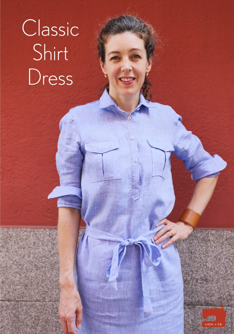 Liesl + Co Classic Shirt as shirt dress