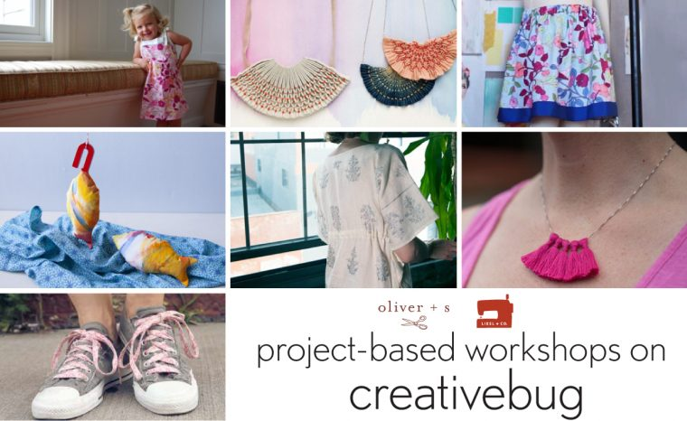 project-based workshops on creativebug
