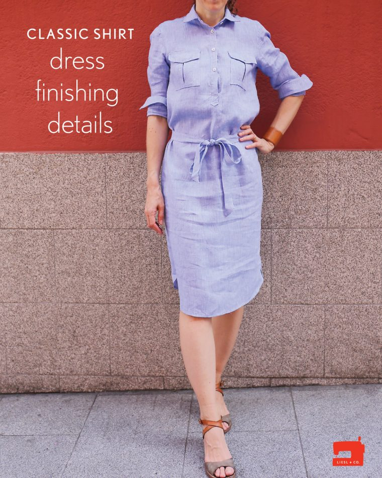 Liesl + Co Classic Shirt dress finishing details