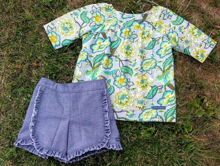 Oliver + S Class Picnic Blouse + Shorts