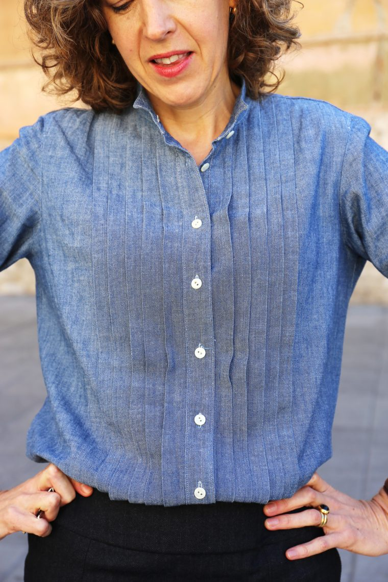 Liesl's denim chambray Liesl + Co Recital Shirt