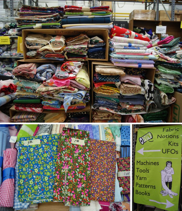 Fabrics at Textile Center Garage Sale