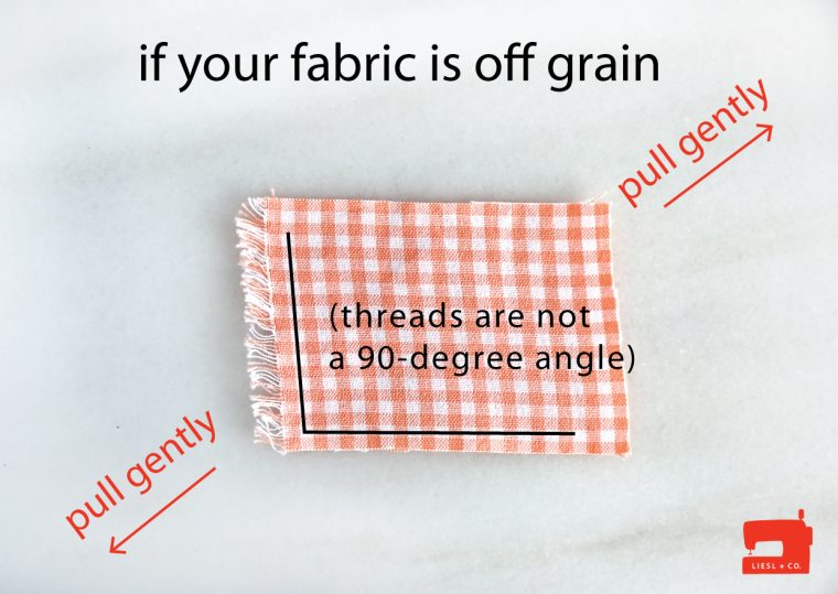 how to correct fabric that is off grain