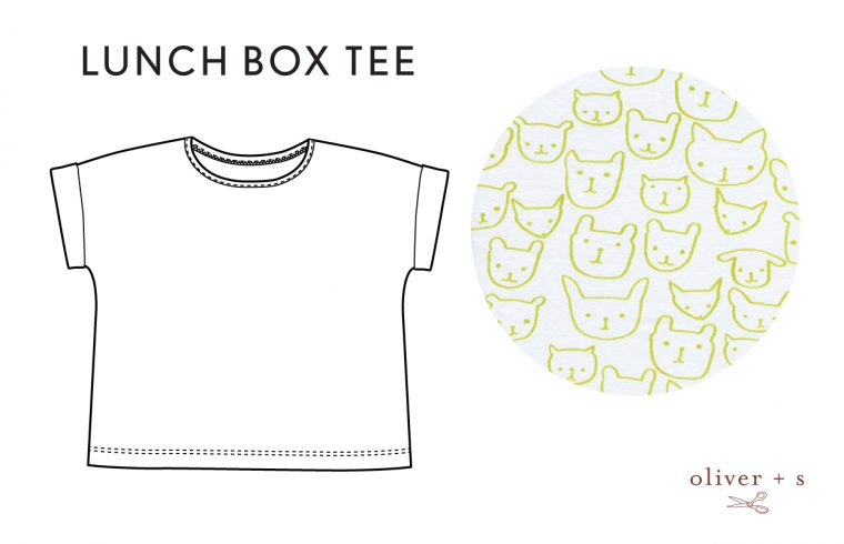 Oliver + S Lunch Box Tee in Hello by Cotton + Steel