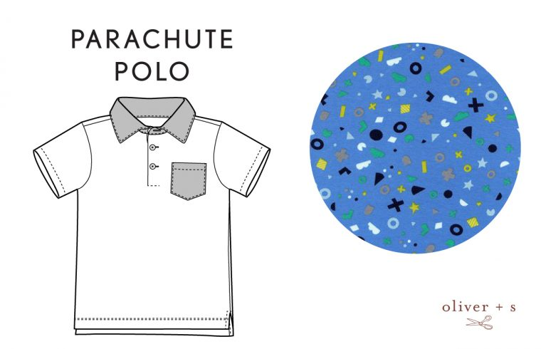 Oliver + S Parachute Polo in Hello by Cotton + Steel