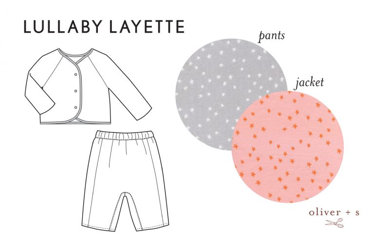 Oliver + S Lullaby Layette in Hello by Cotton + Steel