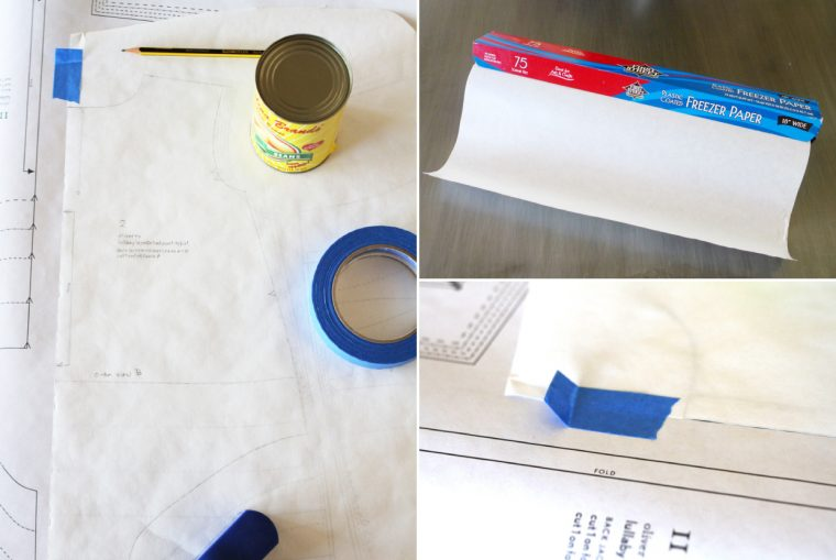 preserving a pattern using freezer paper