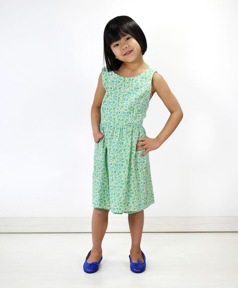 Liesl's childhood wrap dress--the inspiration for the Oliver + S wrap dress style!