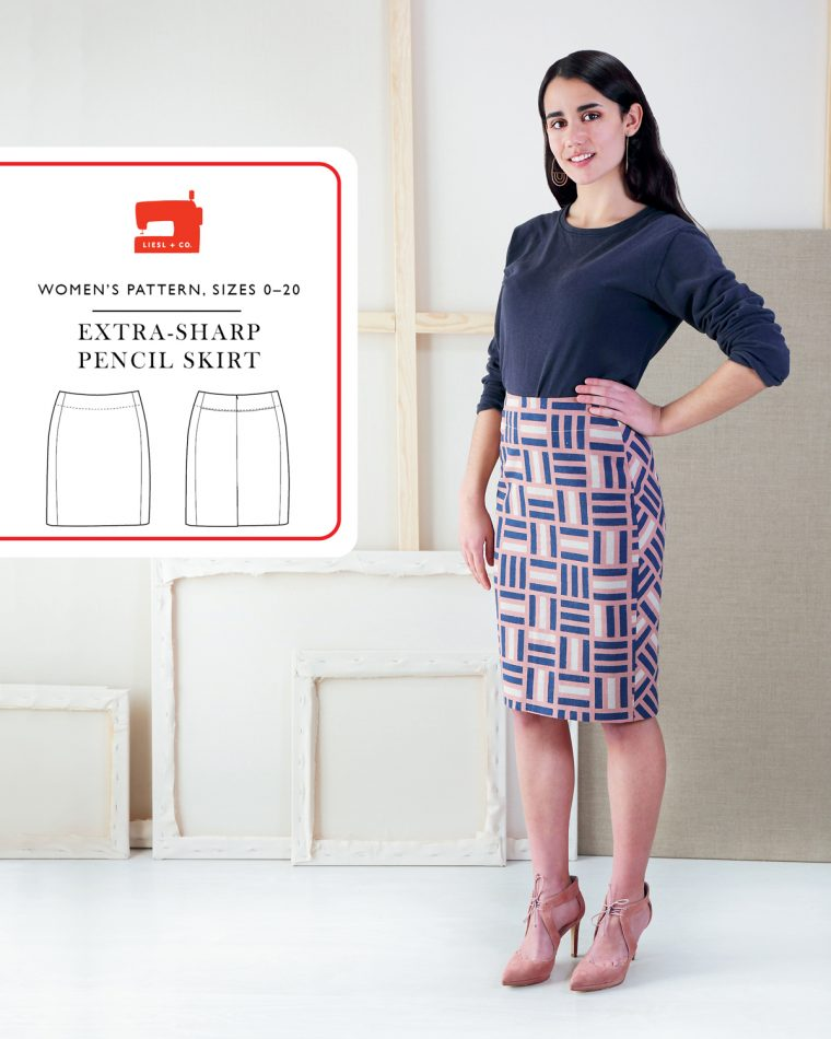 Introducing the Liesl + Co Extra-Sharp Pencil Skirt sewing pattern.