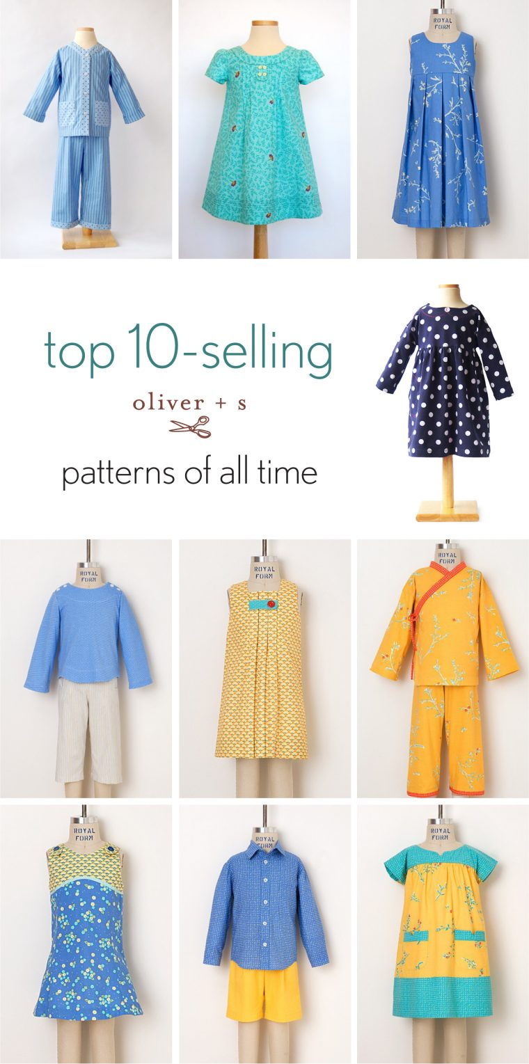 Top 10 selling Oliver + S patterns of all time