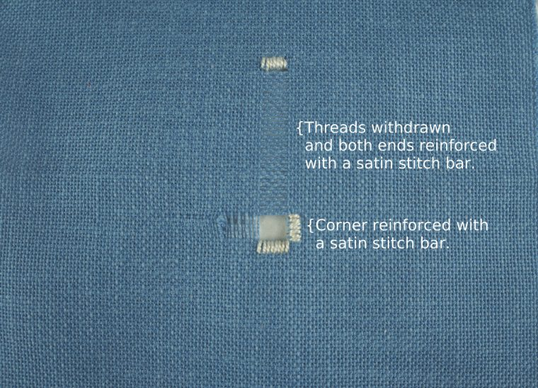 Hemstitching tutorial