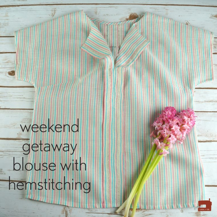 Liesl + Co. Weekend Getaway Blouse with hemstitching