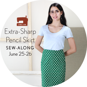 Liesl + Co. Extra-Sharp Pencil Skirt