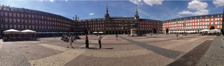 Plaza Mayor in summer
