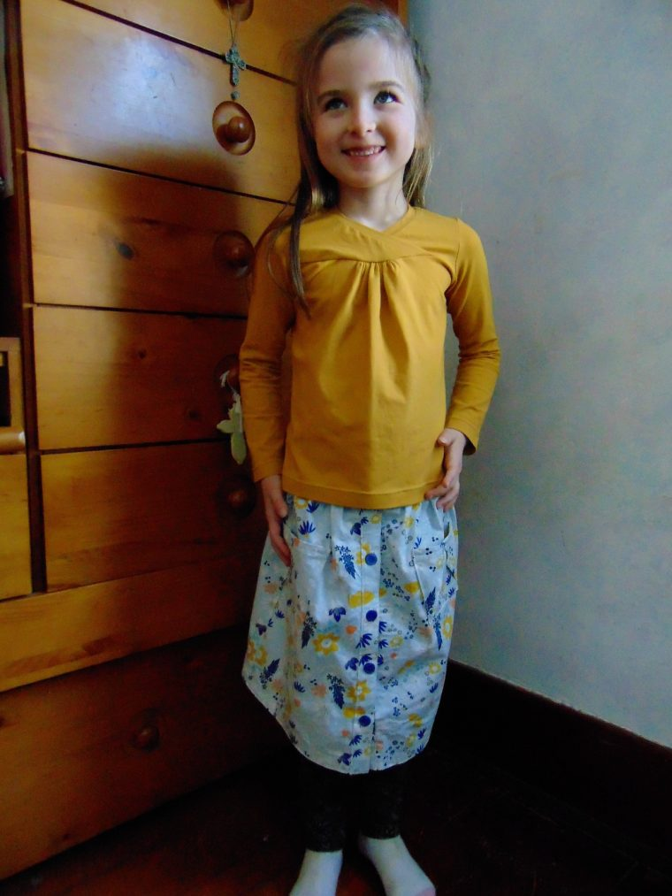 Oliver + S Hopscotch Skirt + Knit Top