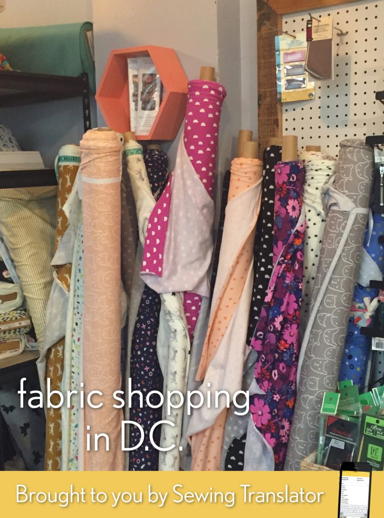 DC fabric shopping