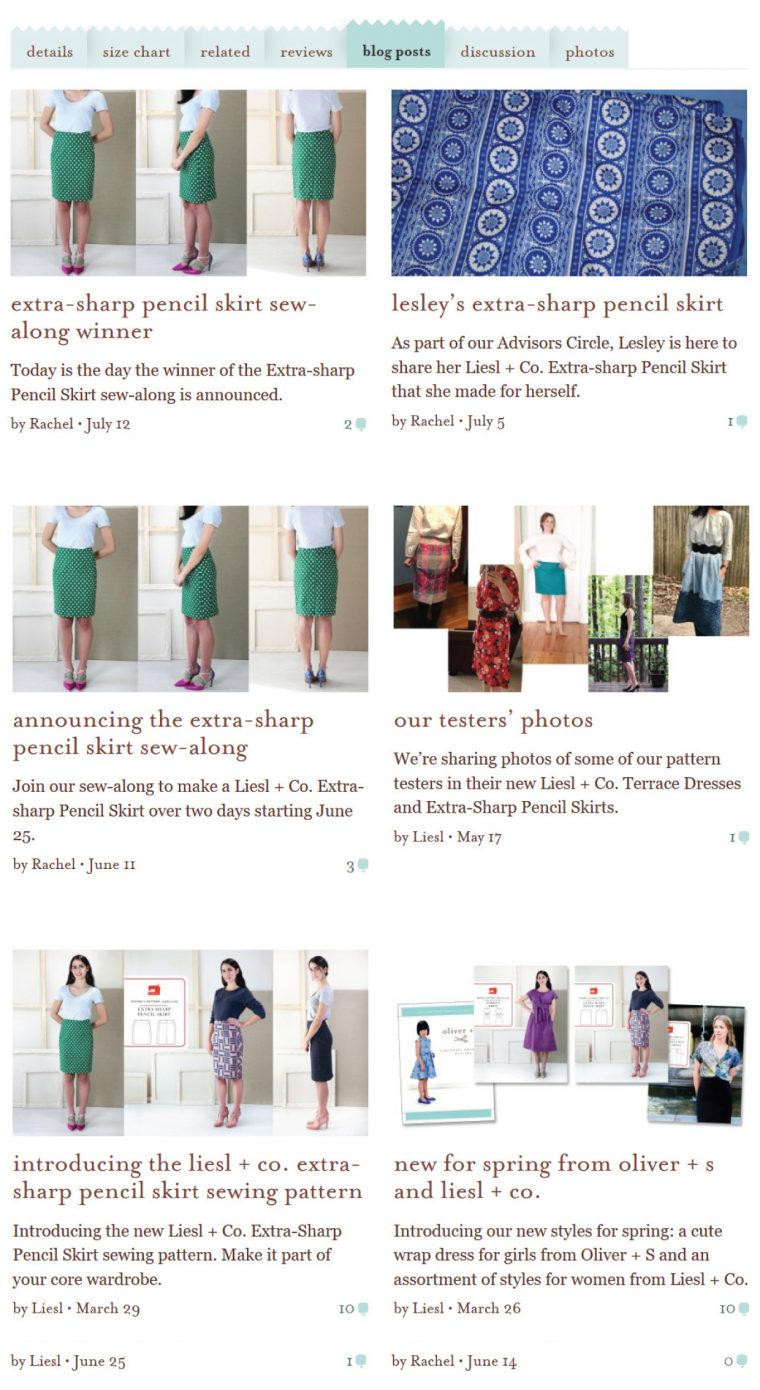 pattern blog posts tab