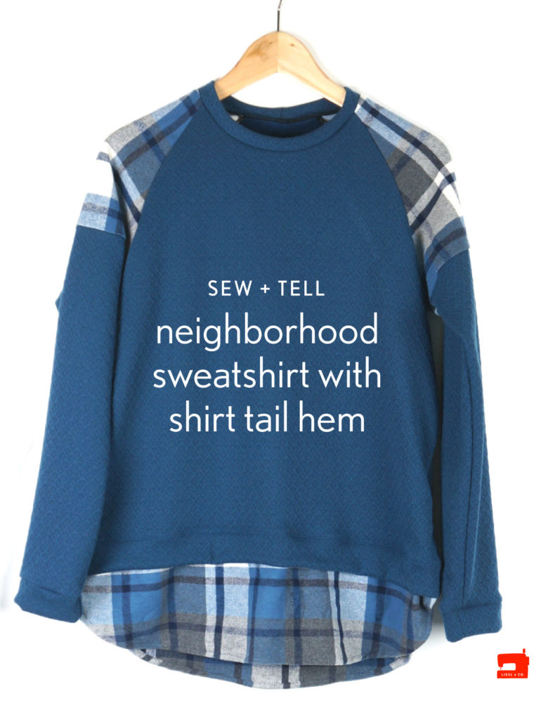 Liesl + Co. Neighborhood Sweatshirt with shirt tail hem