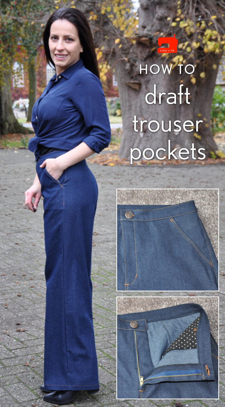 Liesl + Co. Hollywood Trousers with slant pockets