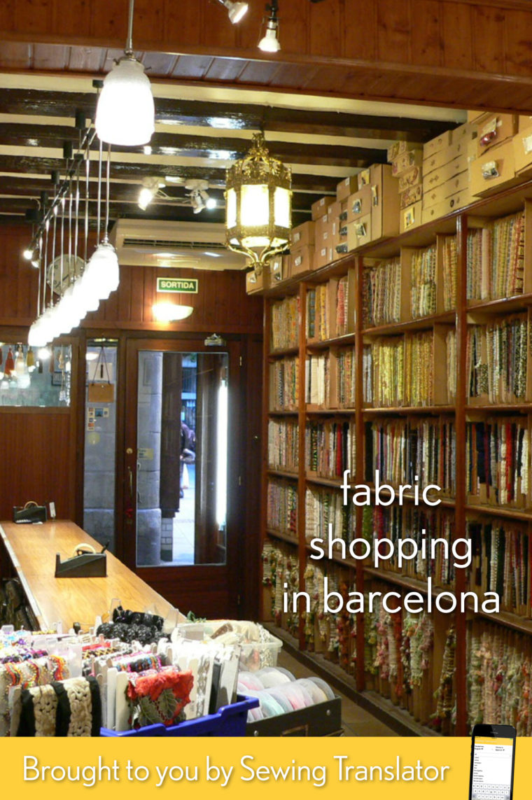 Barcelona fabric shopping