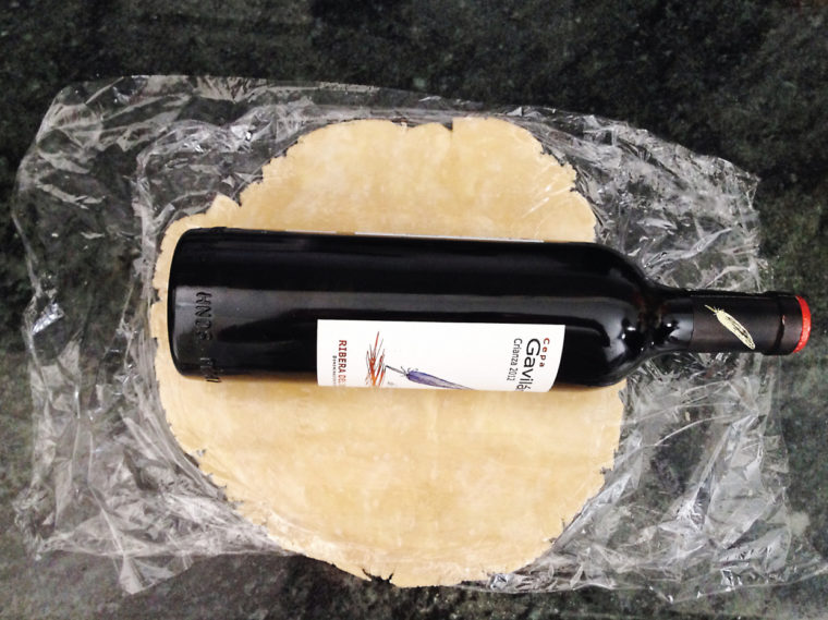 wine bottle rolling pin