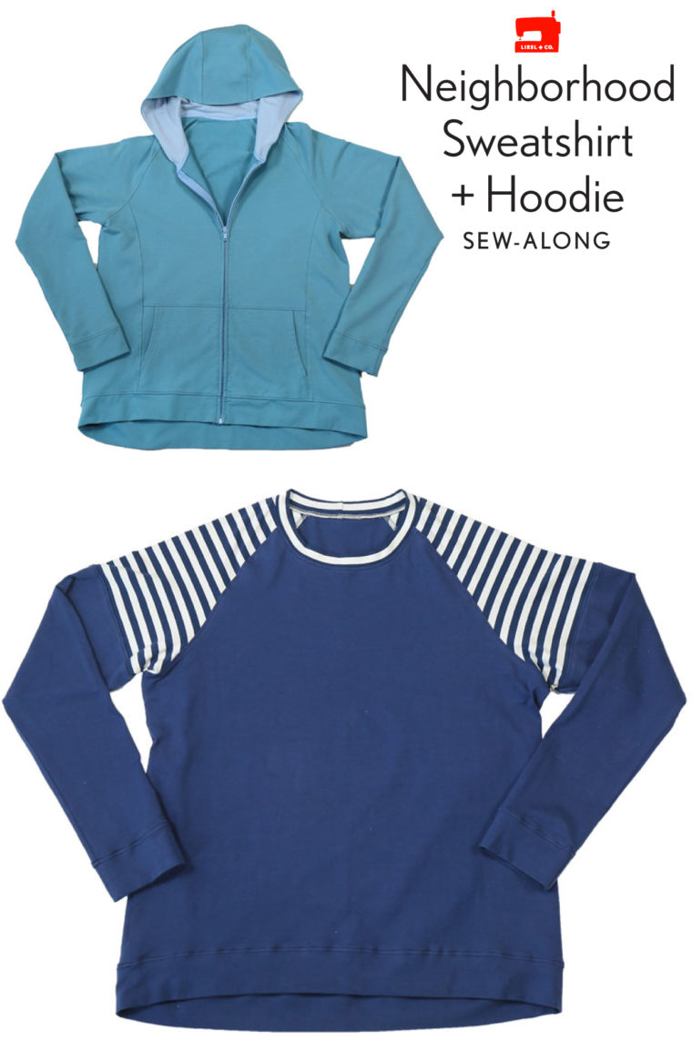 Neighborhood Sweatshirt + Hoodie sew-along