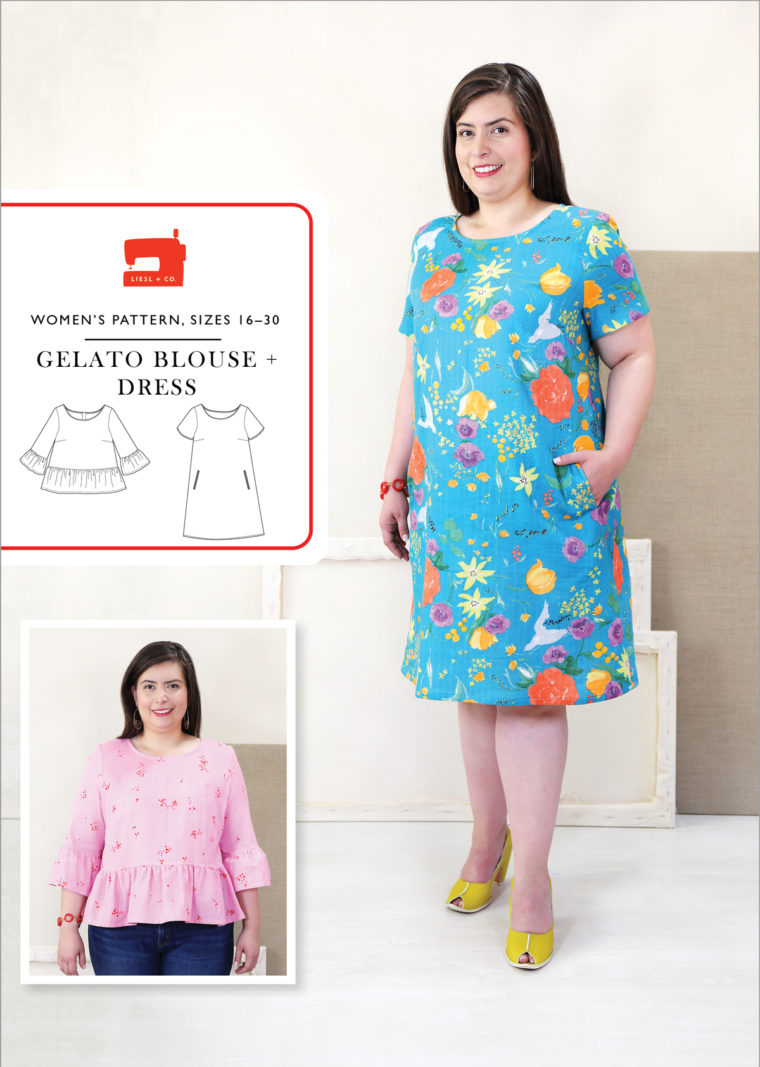 Gelato Blouse + Dress, sizes 16-30
