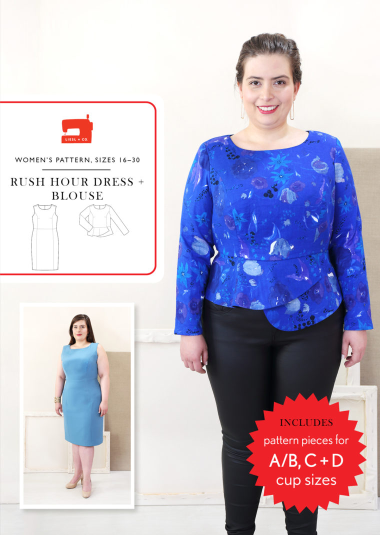 Rush Hour Dress + Blouse in sizes 16-30