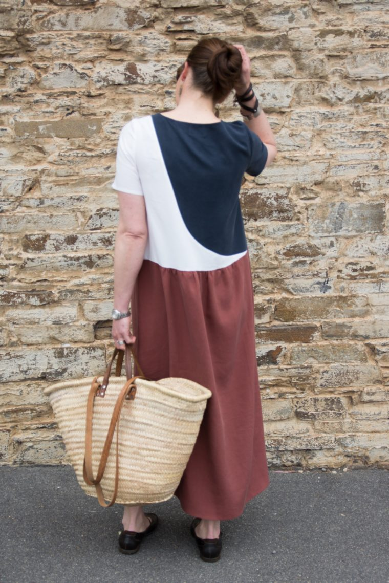 Tutorial for color blocking the Liesl&Co. Gelato Dress.
