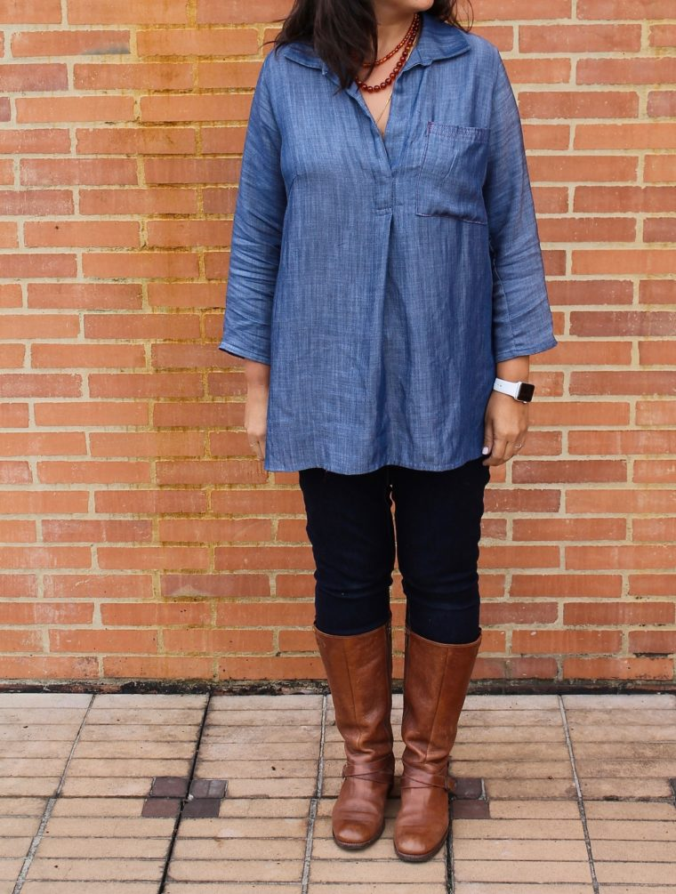 How to style a denim Gallery Tunic.