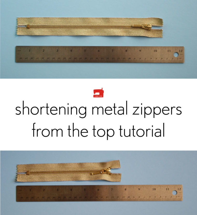 How to shorten a metal zipper