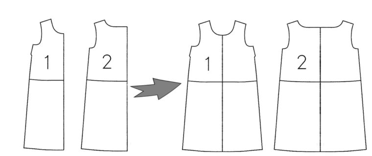 Tutorial for color blocking the Liel&Co. Gelato Dress.