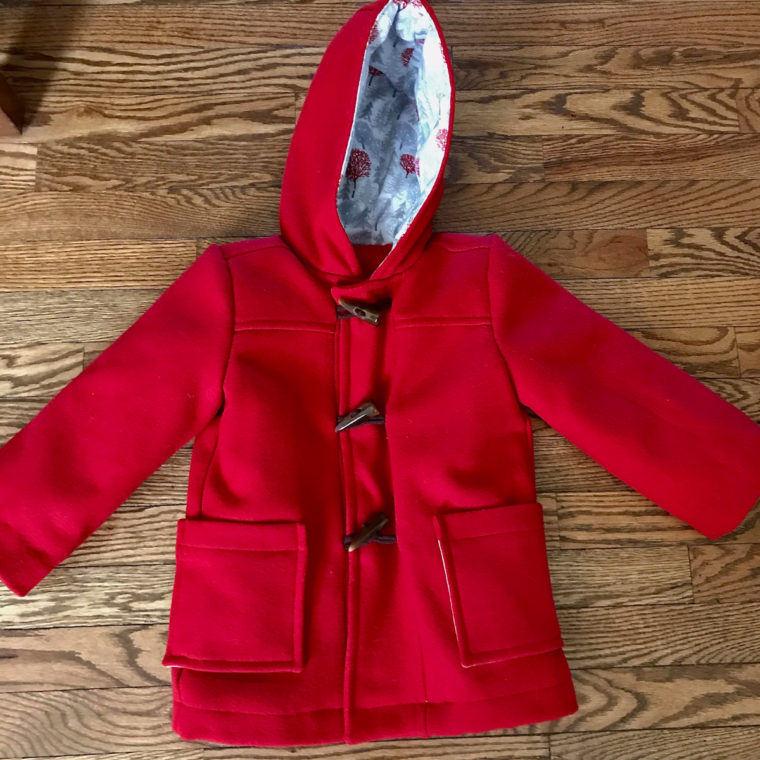 Classic red wool/cashmere School Days Jacket with Thinsulate interlining.