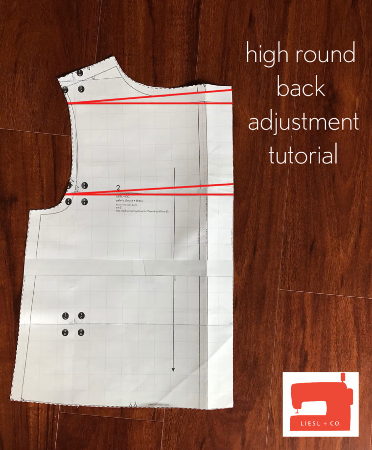 Learn how to make a high round back adjustment with this photo tutorial.