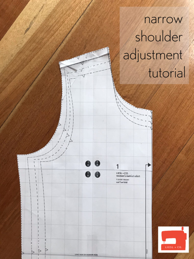 Learn to do a narrow or broad shoulder adjustment with this photo tutorial.