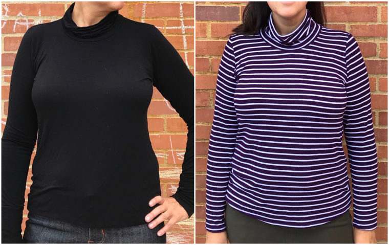 How to draft a turtleneck for any t-shirt pattern.