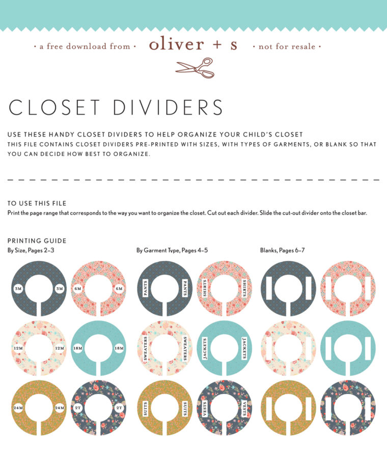 Oliver + S Closet Dividers
